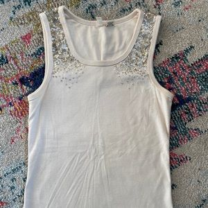 Anthropologie MOTH sequin tank size S